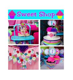 DIY Sweet Shop Cupcake Deluxe Birthday Party  by CupcakeExpress, $35.00
