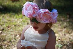 Flower Crown Wedding Flower Crown Hippie by ChildrensCandyKC