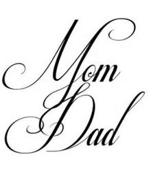 Small feminine tattoo design Mum Dad heart forever love