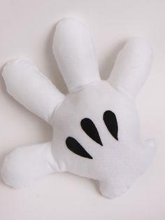 Almofada de feltro grande- Mão Mickey