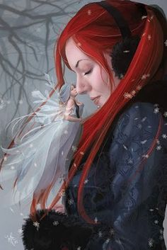 The little fairy snow caresses us ... pure magic (illustration Michelle Ryan