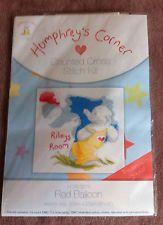 "BNIP Counted Cross Stitch Kit Humphreys Corner red Balloon 8"" x 8"""
