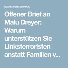 Offener Brief an Malu Dreyer: Warum unterstützen Sie Linksterroristen anstatt Familien von Opfern?