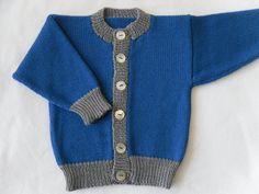 Boys Knit Cardigan/Baby Knit Cardigan/Blue Knit by ToutPetitUK