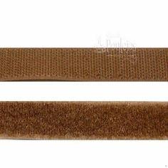 Velcro para coser de color marrón claro