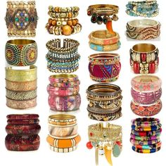 Love boho gypsy hippie chic bangles by Eva