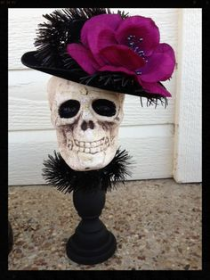 Fancy  Skull Halloween Decoration for Halloween Party