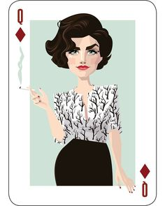 Welcome to Twin Peaks - Audrey Horne, Queen of Diamonds. Twin Peaks art by. Twin Peaks Theme, Sherilyn Fenn, Audrey Horne, David Lynch Twin Peaks, Between Two Worlds, Cool Artwork, Artwork Ideas, Spirit Animal, Twins