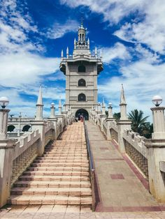 Simala Shrine is a beautiful castle like church located in the island of Cebu. The church is famous for being miraculous among locals. Beautiful Castles, Beautiful Places, Places Around The World, Around The Worlds, Cebu City, Philippines Travel, Miraculous, Old Town, Travel Inspiration