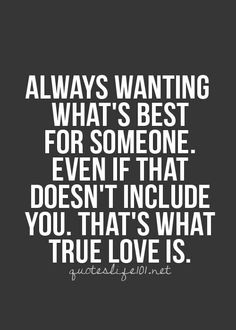 Definition of true love... But it's hard to do at times