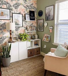Affordable & Inspiring Ideas For Office Decor | Clare Office Paint Colors, Green Paint Colors, Best Paint Colors, Paint Colors For Home, Small Space Office, Small Space Design, Home Office Space, Bedroom Office Combo, Guest Room Office