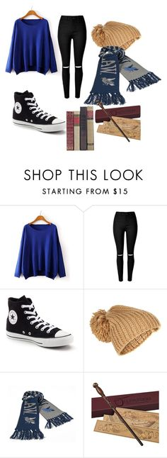 """Ravenclaw regular day/Cho"" by hogwarts-bound ❤ liked on Polyvore featuring Converse, Accessorize and chobound"