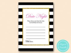 Date night idea card and sign share your best by MagicalPrintable