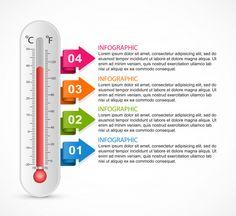 Infographics thermometer design template. Premium Vector | Free Vector #Freepik #vector #freeinfographic #freebanner #freeribbon #freebusiness Infographic Website, Free Infographic, Infographics, Free Banner, Lorem Ipsum, Vector Free, Study, Ads, Templates