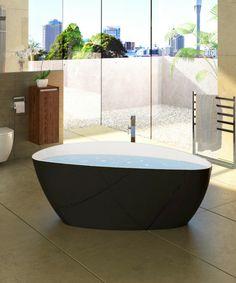 Rita Bath Black and White - x x Basins, Mineral, Bathtub, It Cast, Black And White, Standing Bath, Bath Tub, Black White, Bathtubs