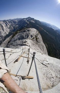 Hike to the top of Half Dome in Yosemite National Park :) I'd train really good for this particular hike.