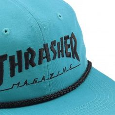 d3140768 Thrasher Rope Snapback Cap in Teal / Black - Detail Buy Rope, Thrasher  Magazine,