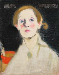 Helene Schjerfbeck Self-Portrait Black Background oil on canvas x 36 cm Herman and Elisabeth Hallonblad collection Finnish National Gallery / Ateneum Art Museum (courtesy Finnish National Gallery / Hannu Aaltonen) Helene Schjerfbeck, Finnish Women, Drawing School, Oil Painting Texture, Picture Boxes, Royal Academy Of Arts, Art Society, Paris Ville, Beginner Painting