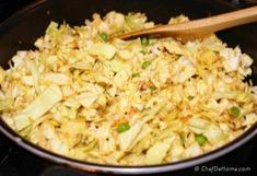 As a flavorful vegetarian side or meat-less main course, this vegan and gluten free Indian Curry Cabbage keeps dinner healthy and delicious!Cabbage (Pata Gobi) Matar (Peas) Sabzi (or sabji) is very. Cabbage Curry, Indian Food Recipes, Ethnic Recipes, Indian Curry, Fried Rice, Vegetarian, Vegan, Dinner, Healthy