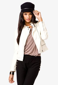 Faux Leather Bomber Jacket | FOREVER21 - 2000050006 34.80