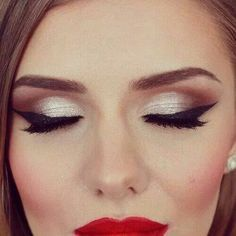 silver makeup for red dress - Google Search