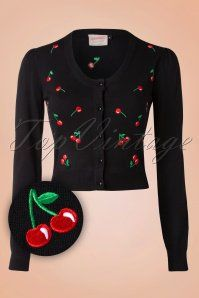 Banned Black Red Drive Me Crazy Cherry Cardigan 140 14 16351 20151014 Rockabilly Outfits, Rockabilly Fashion, Retro Outfits, Retro Fashion, Vintage Outfits, Vintage Fashion, Rockabilly Style, Vintage Clothing, Fall Outfits