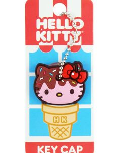 Girlzlyfe.Com - Hello Kitty Ice Cream Cone Key Cap, $5.99