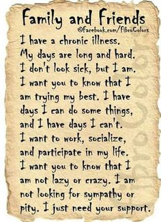 well said....I cannot tell you how lonely it is to have Lyme. Most of my friends have left my life.