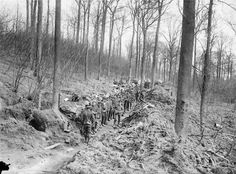 Canadian Infantry in Ploegsteert Wood, Belgium/March 1916. Ploegsteert Wood was a sector of the Western Front in Flanders in World War I, part of the Ypres Salient. After fighting in late 1914 and early 1915, it became a quiet sector where no major action took place. Units were sent here to recuperate and retrain after tougher fighting elsewhere and before returning to take part in more active operations. There are numerous cemeteries around the wood.