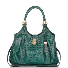 Elisa Hobo Bag - The Jewel Tones Collection      The Elisa hobo is large in size and soft to the touch.  Tons of interior space with a center zip divider to keep all your essentials in one place.  #mybrahminstyle