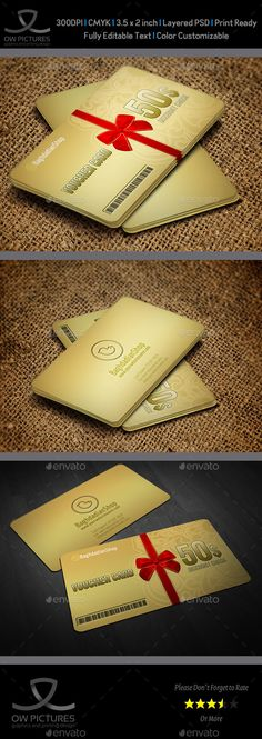 Gift Voucher Template, Gift and Card templates - gift voucher template