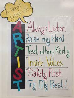 My art room rules!