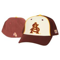 Arizona State Red Devil Fitted Hat Size 7 1/4 by The Game. $3.98. Fitted hat size 7 1/4. Show off your college spirit with this fitted ASU hat. The hat sports two raised embroidered logos one on the front and one on the back
