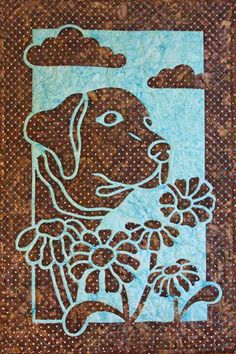 Dog and Daisy 2FAQ applique quilt pattern                                                                                                                                                                                 More