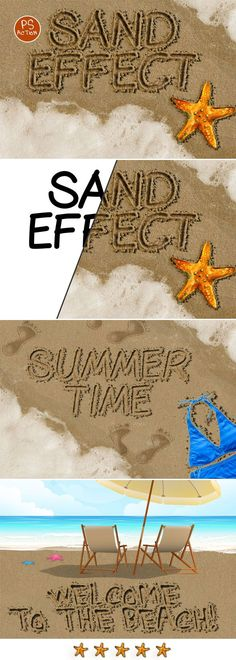 Sand Writing Photoshop Action - Text Effects Actions