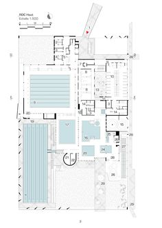 Image 13 of 21 from gallery of Aquatic Centre Louviers / DRD Architecture. Swimming Pool Architecture, Stadium Architecture, University Architecture, Plans Architecture, Swimming Pool Plan, Olympic Swimming, Indoor Swimming Pools, Swimming Pool Designs, Kids Swimming