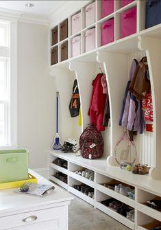 Mudroom. Storage Ideas for Mudrooms. #Mudroom
