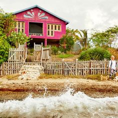 Behind a rambling wood fence along the southwest coast of Jamaica, Sally Henzell lives in an orchid-colored cottage with her three dogs and an assortment of lizards.   Coastalliving.com