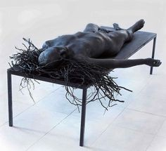 One with nature – Sculptures - Giuseppe Agnello - beautiful work! Contemporary Sculpture, Contemporary Art, Statues, Photo D Art, One With Nature, Body Sculpting, Postmodernism, Dark Art, Installation Art