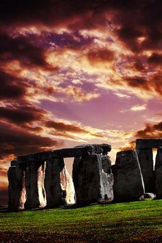 Sunset on Stonehenge