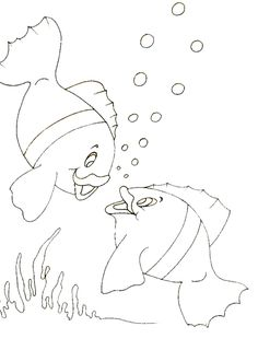 Free Coloring Page Adult Little Fishes Simple With Cute Original Drawing By Olivier