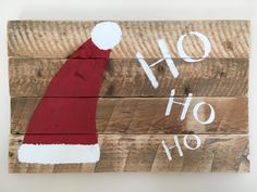Christmas wall hanging, santa, reclaimed wood, rustic, holiday by BlueLilacWoodshop on Etsy