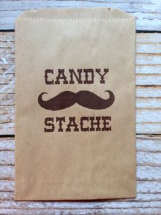 Candy Stache Candy Bags-Candy Buffet, Mustache Bash, Birthday Party, Baby Shower (25) on Etsy, $15.00