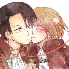 Levi and Petra Don't ship 'em but cute