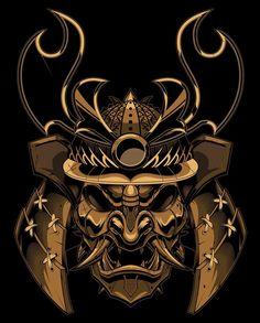 """ถูกใจ 2,153 คน, ความคิดเห็น 22 รายการ - Jared Mirabile (@sweyda) บน Instagram: """"Finished samurai boss! #vector #samurai #mempo #mask #illustration #sweyda"""" Japanese Mask, Japanese Warrior, Japanese Tattoo Art, Japanese Sleeve Tattoos, Kabuto Samurai, Samurai Helmet, Samurai Warrior, Samurai Mask Tattoo, Oni Tattoo"""