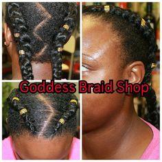 Pigtails for Venus. Goddess Braid Shop, St Petersburg FL. www.goddeasbraidshop.com