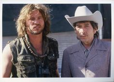 Bob Dylan and Val Kilmer, Masked and Anonymous 2003...