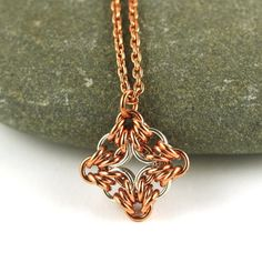 Sterling silver and copper pendant for wanderers  by Silverfalls