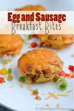 Perfect School Day Breakfast! Easy Egg & Sausage Breakfast Bites Recipe