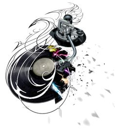 DJ Headphones Tattoo Designs | Pin Dj S Mixer Boards Headphones And Other Techno Attributes Brushes ...